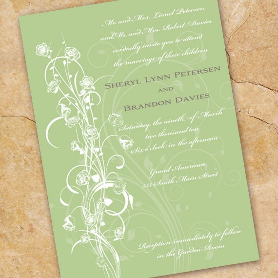 wedding invitations, sweet pea wedding invitations, sweet pea bridal shower invitations, sweet pea girl party, wedding invitations