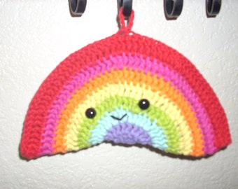 Happy Rainbow Pot Holder