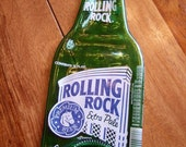 ROLLING ROCK Pale Ale Beer Flat Fused Bottle for Spoon Rest