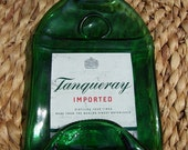 TANQUERAY London Gin Fused Bottle Spoon Rest Cheese Tray