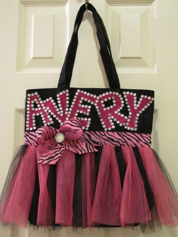 Personalized Tutu Tote Bag