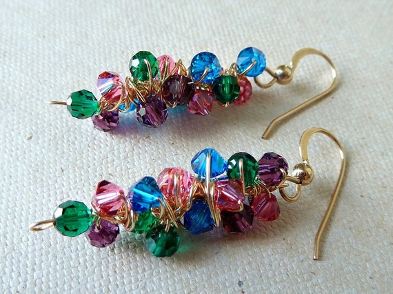 SALE Colorful Earrings 14K Gold Filled