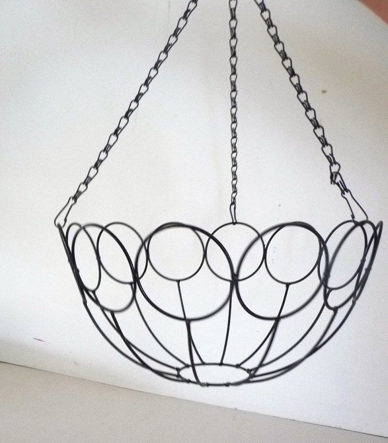 Hanging Wire Basket Vegetable And Fruit By Revivemodernvintage