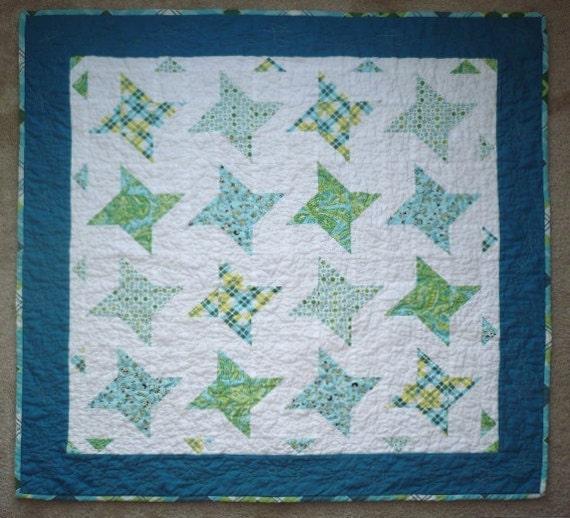Modern baby boy quilt