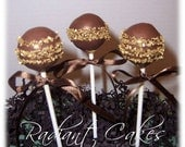Brown and Gold Cake Pops