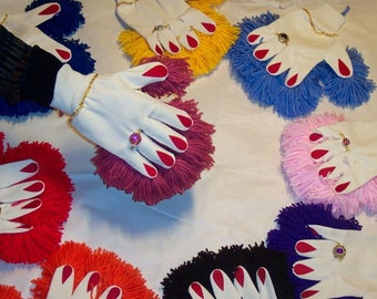 DUST PAW   decorated cotton cleaning glove