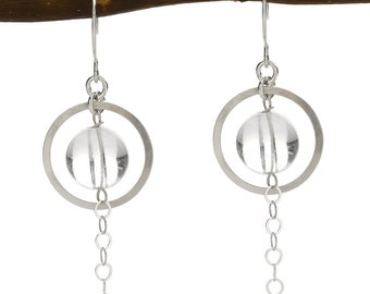 sterling and glass earrings