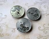 Steampunk Vintage Pocket Watch Plates Movements - Altered Art - Industrial Art - Assemblage