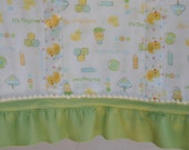 Little cute duck burp cloth