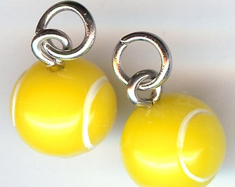 TENNIS BALL Charm. Plastic. 3D.