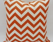 OUTDOOR Pillow Zig Zag Chevron Rust & Ivory Pillow Cover 18x18