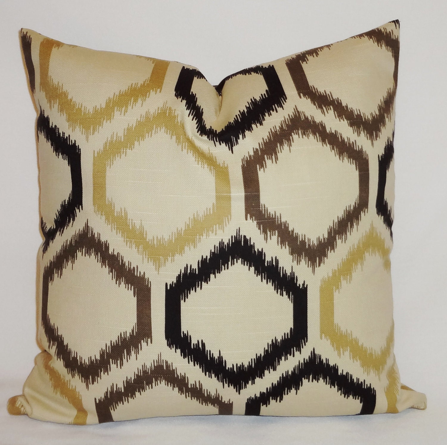 Decorative Pillow Throw Pillow Geometric Black Brown Beige