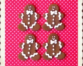 Classic Gingerbread Cookie polymer clay embellishments/bow centers/ornaments