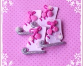 Let's Skate polymer clay ornaments/embellishments/hair bow centers