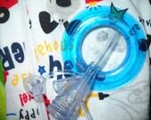 tubiejammies- boys sz.3-6mos-footie zipfront sleep n play-blue tubie ring