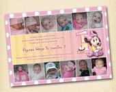 Minnie Mouse Birthday Invitation (Digital File) Minnie Mouse Invitation
