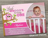 Owl Birthday Invitation (Digital File) - Boy & Girl Versions Available - I Design, You Print