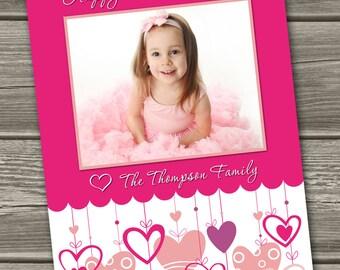 Valentines Photo Card, Valentine's Day Card - (Digital File) - I Design, You Print