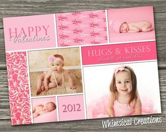 Photo Valentines Card, Valentine's Day Card - (Digital File) - I Design, You Print