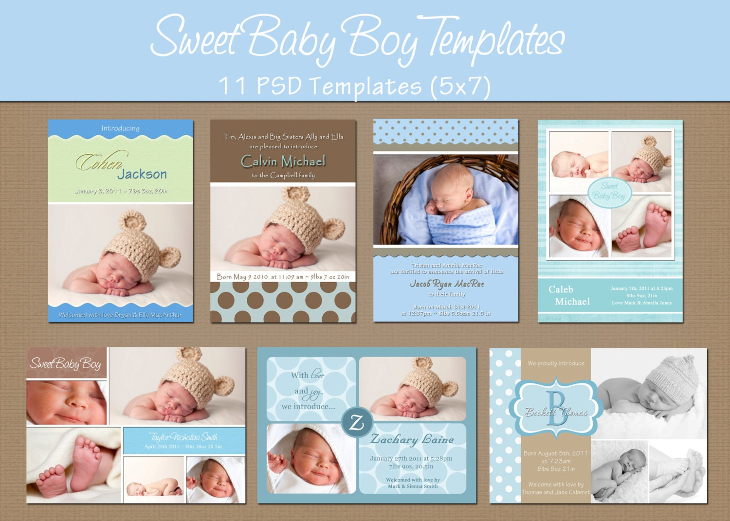 Instant download birth announcement by whimsicalcreationspc for Baby birth announcements templates for free