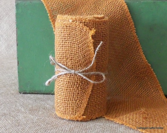 Clearance burlap ribbon 6 wide pumpkin jute by for 10 foot table runner