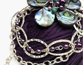 Flower Statement Necklace - Abalone Shell