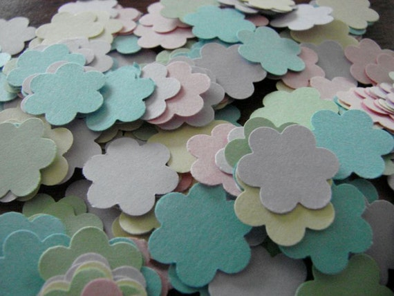 Paper flower confetti - Beautiful spring colors - 300 pieces