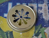 Set of 12- Gold Daisy Cut Mason Jar Lids