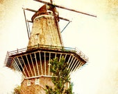 """Bicycle, Bicycle & Rustic Windmill - Amsterdam, The Netherlands Set of TWO (2) Fine Art 5x7"""" Photo Prints, Ready to Ship"""