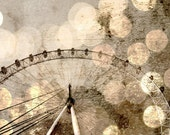 "London Eye Giant Ferris Wheel, Bokeh Photo - Fine Art Photography 8x12"" Matte Print, London, England, United Kingdom"