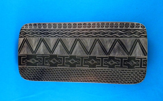 African tray bowl kisii stone signed hand carved from kenya