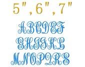 "SUPER JUMBO ABC Script Machine Embroidery Font - Sizes 8"" & 9"""