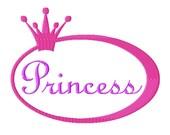 Princess Circle Frame - Machine Embroidery - 8 Sizes plus Princess word design