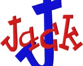 "Jack Machine Embroidery Font - Sizes 1"",2"",3"",4"" BUY 2 get 1 FREE"