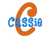 "Cassie Machine Embroidery Font - Sizes 1"",2"",3"",4"" BUY 2 get 1 FREE"