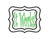 It Works - Double Applique Frame - Machine Embroidery Design - 15 Sizes