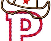 """Rodeo Time Applique Font Set - Machine Embroidery Design - 4x4 Hoop, 5"""",6"""",7"""" and 5x7 Hoop"""