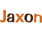 "Jaxon Machine Embroidery Font - Sizes 1"",2"",3"",4"" BUY 2 get 1 FREE"