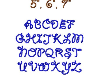 """JUMBO Rodeo Time Machine Embroidery Font - Sizes 5"""",6"""",7"""" with 4 freebies BUY 2 get 1 FREE"""