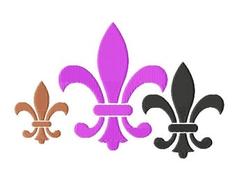 "Fleur De Lis - Machine Embroidery - 11 Sizes from 2"" to 7"""