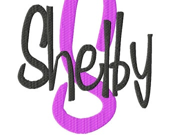 "Shelby Machine Embroidery Font - Sizes 1"",2"",3"",4"" BUY 2 get 1 FREE"