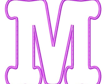 "Cassidy Applique Font Set - Machine Embroidery Design - 4x4 Hoop, 4"", 5"", 6"", 7"""