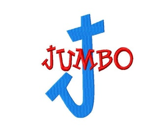 "JUMBO Jack - Machine Embroidery Font - Sizes 5"",6"",7"" BUY 2 get 1 FREE"