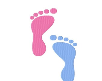Footprints - Machine Embroidery - 13 sizes