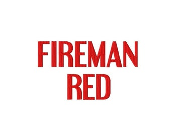 "Fireman Red - Machine Embroidery Font - Sizes 1"",2"",3"",4"" BUY 2 get 1 FREE"