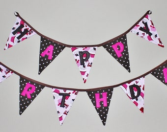 Happy Birthday Banner Pattern - Directions - with all Letters