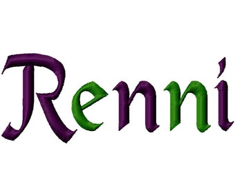 "Renni Machine Embroidery Font - Sizes 1"",2"",3"",4"" BUY 2 get 1 FREE"