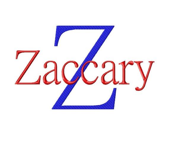 JUMBO Zaccary Machine Embroidery Font Sizes