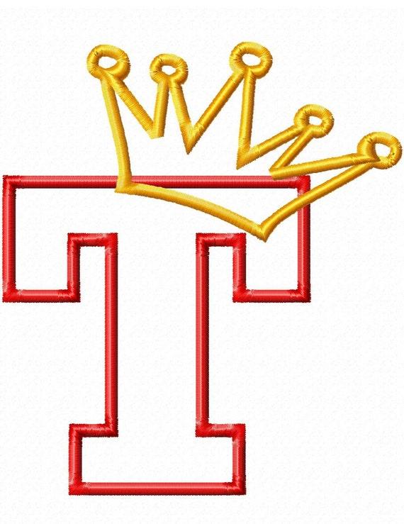 Princess Crown Applique Font Set - Machine Embroidery Design - 5 Sizes