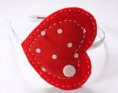 My big heart, valentines headband